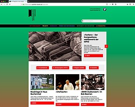 Screenshot der TYPO3-Website der Website -Spielfeld Klassik-