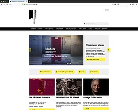 Screenshot der TYPO3-Website der Münchner Philharmoniker