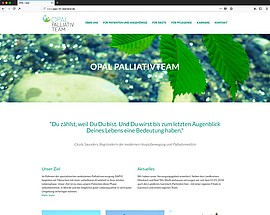 Screenshot der TYPO3-Website des OPAL Palliativ Teams